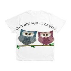 Owl always love cut cute Owls Art Mens All Over Print t-shirt
