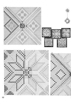 crochet motifs squares for blanket Magic Crochet nº 17 - leila tk Image gallery – Page 357543657889819081 – Artofit Crochet Pillow Cases, Crochet Bedspread, Crochet Curtains, Crochet Cushions, Crochet Tablecloth, Crochet Doilies, Crochet Motif Patterns, Crochet Diagram, Crochet Chart