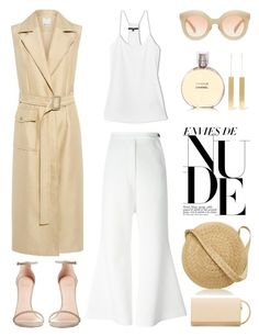"""Unbenannt #975"" by fashionlandscape ❤ liked on Polyvore featuring C/MEO COLLECTIVE, E L L E R Y, Stuart Weitzman, TIBI, Chanel, Kaleos, Off-White, Samuji and MANGO"