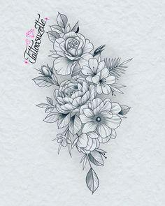 Small Tattoo Designs, Tattoo Sleeve Designs, Flower Tattoo Designs, Flower Designs, Sleeve Tattoos, Tattoo Femeninos, Tattoo Drawings, Tattoo Small, Tattoo Flash