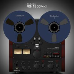 """Technics RS-1800 MkII"".  Japan Makes It Reel !...  http://about.me/Samissomar"