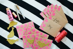 DIY: valentine cards...felt birds and hearts