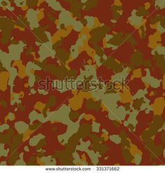 Seamless fashion red and green camouflage pattern vector
