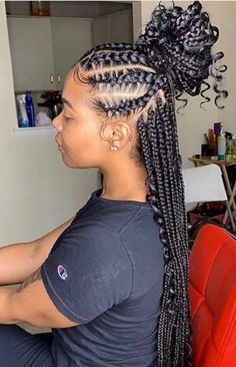 Love these feed-in goddess braids by braidsasyoulikeit Would you rock it Quick Braided Hairstyles, Feed In Braids Hairstyles, Medium Hair Braids, Braids For Black Hair, African Hairstyles, Latest Hairstyles, Black Women Hairstyles, Weave Hairstyles, Medium Hair Styles