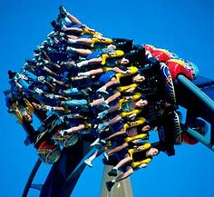 Roller coaster in America.
