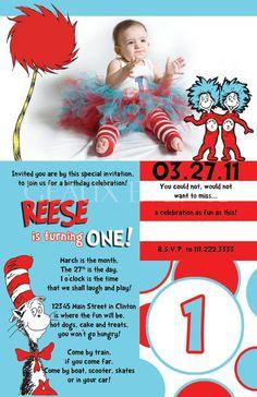 Dr Seuss Invitation