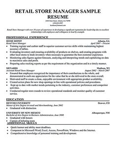 Cad Administrator Sample Resume Mesmerizing 33 Best Retail Manager Images On Pinterest  Shop Windows .