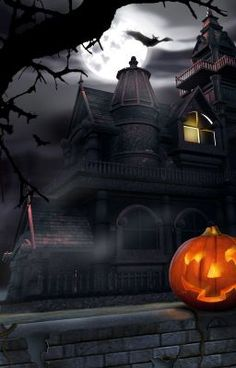 behold the scary mansion of cute halloween wallpaper at your android screen. This is a live wallpaper that contain cute halloween wallpaper, perfect for Retro Halloween, Image Halloween, Halloween Pictures, Halloween Horror, Halloween Ghosts, Holidays Halloween, Halloween Themes, Happy Halloween, Halloween Customs