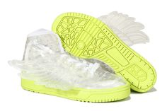 reputable site bcf88 c7331 Buy Adidas Women White Yellow Obyo Jeremy Scott Wings Shoes Limit Sneaker 365  Days Return For Travelling from Reliable Adidas Women White Yellow Obyo  Jeremy ...