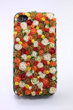 iphone case - iPhone 4 case, handmade phone case, gift wrapping - fllowers for her, floral case. , via Etsy. Decoden Phone Case, Diy Phone Case, Diy Mobile Cover, Mobile Cases, Iphone 4s, Iphone Cases, Biscuit, Scrapbook Cover, Handmade Polymer Clay