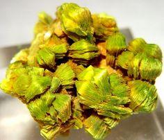 Uranocircite | ©Fine Mineral Galleries | iRocks.com  Streuberg Quarry, Bergen, Zobes-Bergen District, Vogtland, Saxony, Germany.