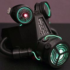 Adafruit's 3D Printed Gas Mask for a Dystopian Halloween