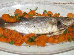 Ricetta Altro : Spigola al forno con letto di carote da Fragole-e-panna