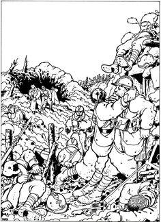 Jacques Tardi - 1996 Best Comic Books, Comic Books Art, Comic Book Artists, Comic Artist, Graphic Novel Art, Ligne Claire, Dnd Art, Panel Art, Guerrilla