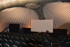 Inflatable dome structure housing a pop up lecture theater and screening room.  #EvolutionDome #EventPlanning #PopUpVenue #InflatableStructure #PopUpTheater #PopUpClassroom #EventStructure #Marquee #Hire #Corporate #Conference #Exhibition #PopUpCinema #TemporarySpace #AllWeatherMarquee