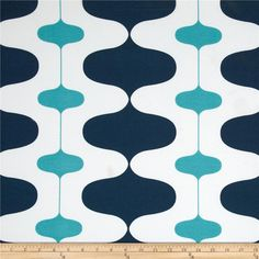 Patio furniture possibility Premier Prints Indoor/Outdoor Ivon Oxford/Ocean from @fabricdotcom  Colors include aqua, white and navy.