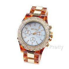 $18.14 Women's Precise Diamante Round Dial Wrist Watch Analog Quartz Watch - BornPrettyStore.com