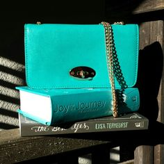 "☆3×HP☆ Gwyneth Foldover Clutch in Pool NWT Gwyneth Foldover Clutch in Pool You can never lose with a beautiful pop of color! This flap over clutch is oh so roomy. Featuring four separate storage compartments (one of which is zippered), you'll find a place to store your must-have items. Carry it as a clutch or use the chain as a shoulder strap. Faux leather Flap over closure Four separate storage compartments Chain shoulder strap Interior zipper pocket Dimensions: 8""Lx2""Wx4.5""H 40/35/30 Melie…"