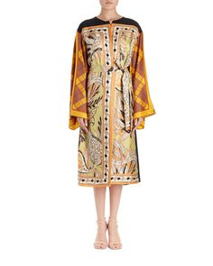 DRIES VAN NOTEN RAMIDO FLORAL-PRINT SILK KIMONO COAT. #driesvannoten #cloth #