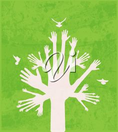 iCLIPART - Clipart image of a hand tree