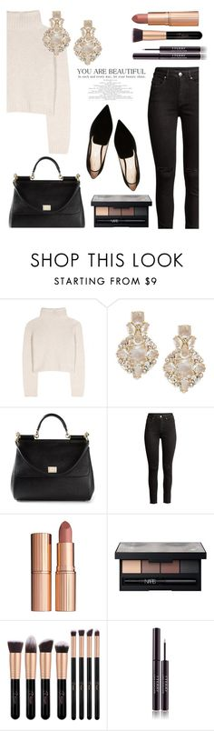 """""""Untitled #129"""" by callmelessie on Polyvore featuring The Row, Kate Spade, Dolce&Gabbana, Charlotte Tilbury, NARS Cosmetics, By Terry and Nicholas Kirkwood"""