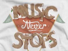 Music Never Stops / Thomas Willemet Music Festival Logos, Edc, Finals, Crushes, Place Cards, Place Card Holders, Creative, Final Exams, Every Day Carry