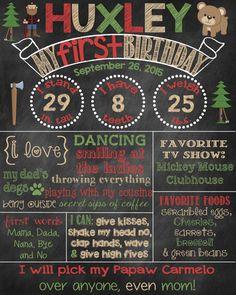 Lumberjack Birthday Chalkboard Poster Sign Lumberjack Theme Lumber Jack