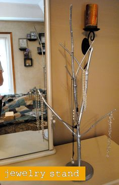 Crafted Love: Spring Cleaning | Tree Branch Jewelry Stand