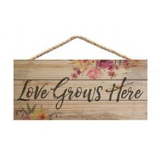 Love Grows Here Made of real wood Measures Approx. 5 x 10 inches Handmade with wood lath strips and finished with a hanging jute rope Proudly Made in the USA The wood plank look with distressed design adds charm to any room of the house Wood Turning Projects, Diy Craft Projects, Wood Projects, Craft Ideas, Wood Crafts, Diy Crafts, Arts And Crafts For Teens, Kids Wood, Dollar Tree Crafts