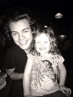 Harry today so cute