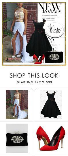 """simple-dress 2"" by denisao ❤ liked on Polyvore featuring Oscar de la Renta"
