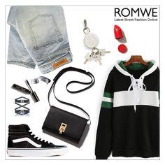 """Romwe"" by aria-star ❤ liked on Polyvore featuring Denham, Vans, Eva Fehren, Alexander Wang, NARS Cosmetics, Bobbi Brown Cosmetics, StreetStyle, romwe and fashionset"
