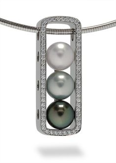 Tahitian Pearl Modern Necklace - this is too cool. gotta find a way to make one