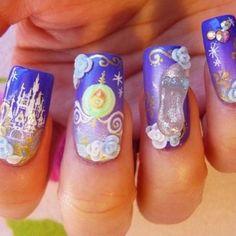 Cinderella nails from @mininailblog ...Oh...Em..Gee