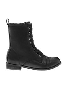 Image 1 of London Rebel Sargent Lace Up Boot