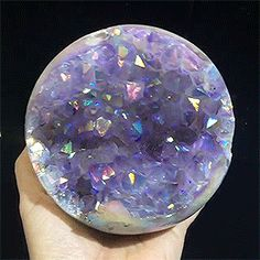 Man-made coating on amethyst Minerals And Gemstones, Crystals Minerals, Rocks And Minerals, Stones And Crystals, Gem Stones, Crystal Aesthetic, Saphir Rose, Crystal Magic, Rock Collection
