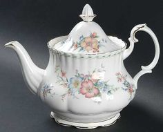 Royal Albert China Brigadoon Teapot Amp Lid Teapots