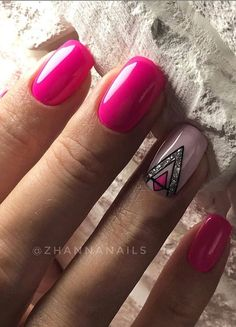 78 Hot Pink Nails Art Designs,Can Be Used In Almost All Occasions - - . 78 Hot Pink Nails Art Designs,Can Be Used In Almost All Occasions - - nails ideas short Accent Nail Designs, Square Nail Designs, Nail Art Designs, Nails Design, Manicure Nail Designs, French Manicure Nails, Pink Manicure, French Nails, Hot Pink Nails
