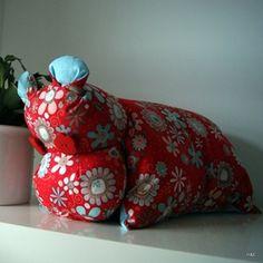 KIT HIPPO BOBO un kit Hippopotame à réaliser (coussin hippo à emmener partout)