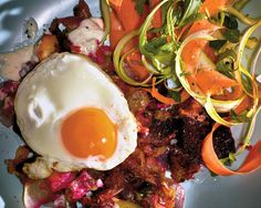 Red-flannel hash is a mostly forgotten American classic. With roasted beets, roasted potatoes, cheese, onions, horseradish and other strong flavors, Jessica Koslow of Sqirl revives it — and makes it beautiful.(Photo: Grant Cornett for The New York Times)