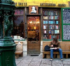 Shakespeare and Co. The english language bookstore in Paris. I loved it.