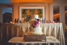 wedding cake front and center