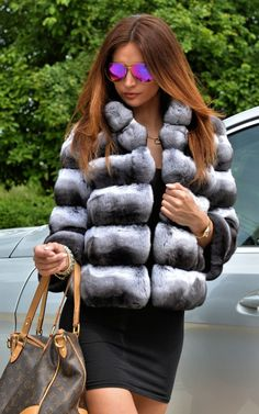 Magnifique veste en chinchilla