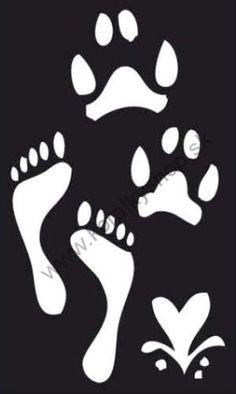 Šablóny na maľovanie   Samolepiaca flexi mini šablóna - stopy  