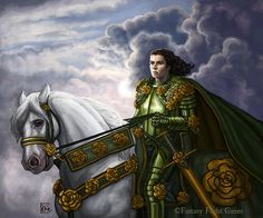 The Knight of Flowers by feliciacano.deviantart.com