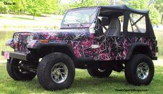 muddy girl camo jeeps   ... 1660 × 960 in Muddy Girl by Moonshine Camo Jeep Wrangler Vinyl Wrap