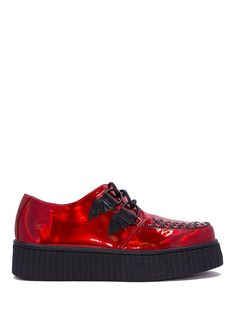Y.R.U. Womens Strange Cvlt Krypt x Ash Costello Red Hologram Bat Platform  Sneaker – Size 6 -- Read more at the image link. (This is an affiliate  link)   ... 21030a4cdd15