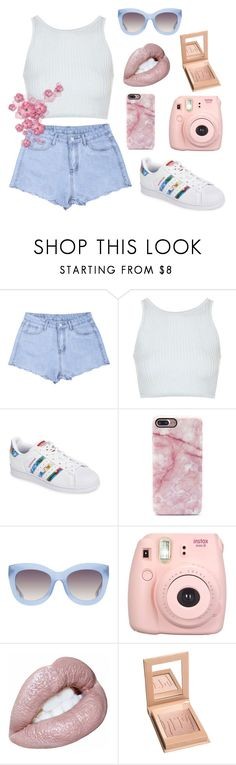 """I'm a rebel just for kicks now"" by dancer-242 ❤ liked on Polyvore featuring Topshop, adidas, Alice + Olivia and Fujifilm"