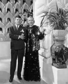 Carole Lombard and Travis Banton during the filming of Rumba 8x10 rare photo