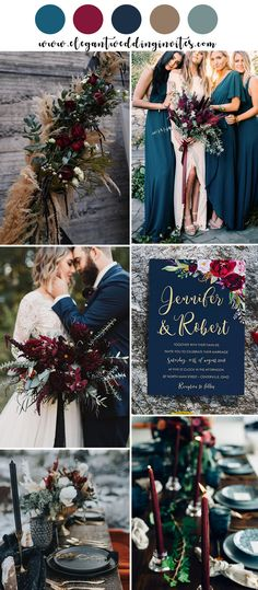 Moody Boho Chic Wedding Ideas with Matching Floral Wedding I.-Moody Boho Chic Wedding Ideas with Matching Floral Wedding Invites jewel tone boho inspired wedding colours - Invitation Floral, Floral Wedding Invitations, Wedding Favors, Wedding Centerpieces, Boho Wedding Decorations, Vintage Invitations, Centerpiece Ideas, Chic Wedding, Dream Wedding